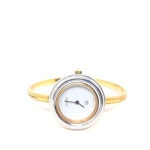 Gucci Bezel Bangle 1100L Gold Watch